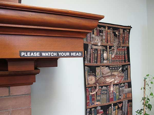 Fairhaven Library mantel