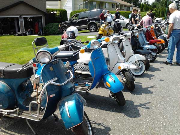 Scooters, parked