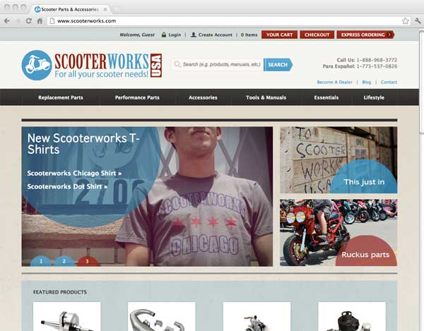 Scooterworks Web page