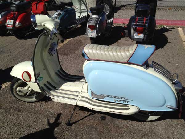 Blue & white Lambretta