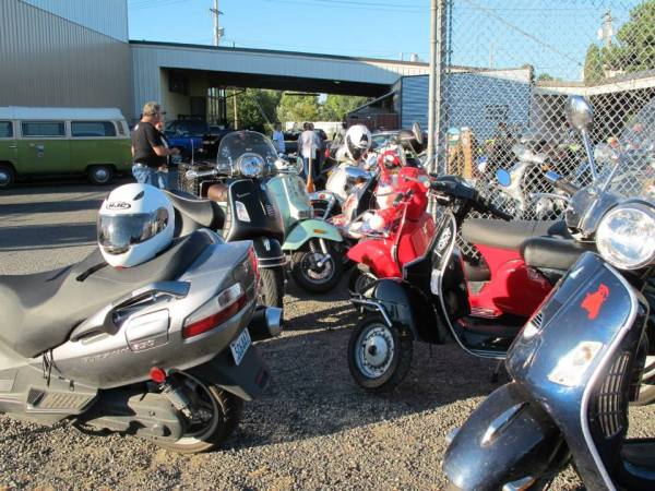 Scooters at Chuckanut Brewery