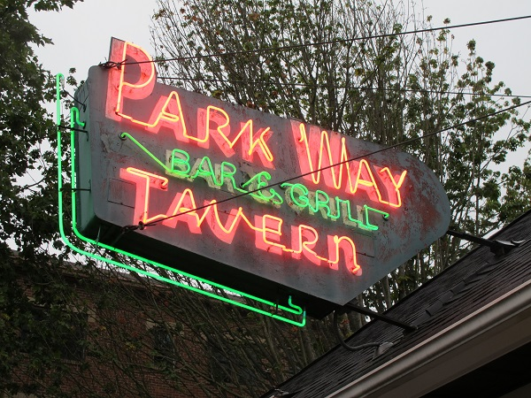 Parkway Tavern sign