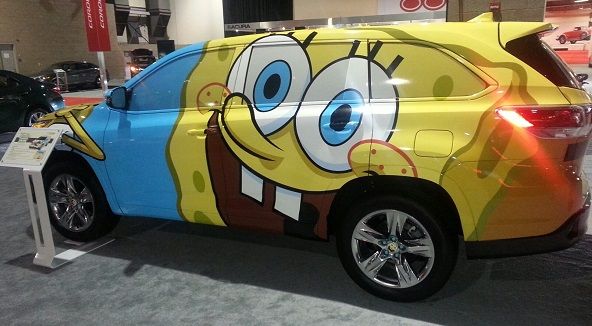 SpongeBob wrap is a one-off... fortunately. (Seattle Auto Show photo)