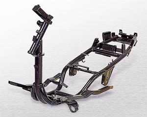Tubular scooter frame