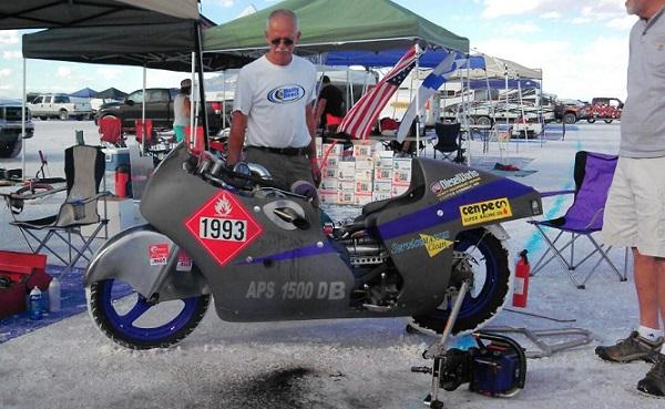 Charlie Nichols' turbo-diesel bike