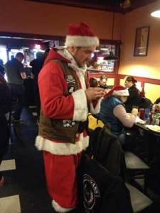 Justin as Santa