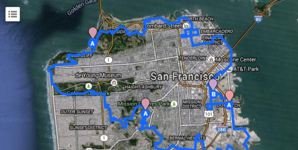 San Francisco, via Google Maps