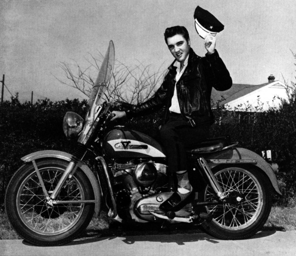 Elvis on a Harley