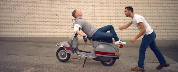 Macklemore reclines on a P200