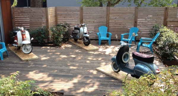 Scooter patio display