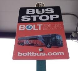 BoltBus sign