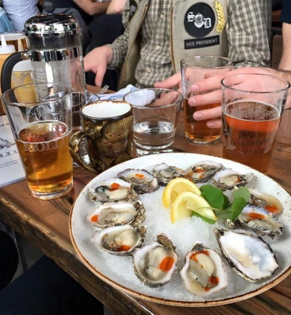 Beer and oysters