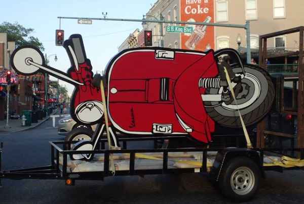 Big Vespa on a trailer