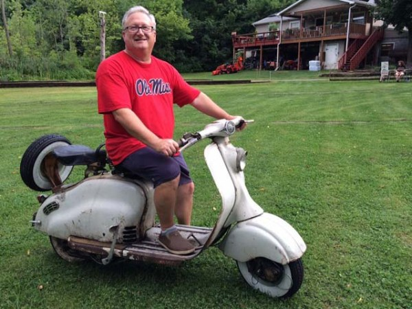 Ole Miss alum on vintage Lambretta