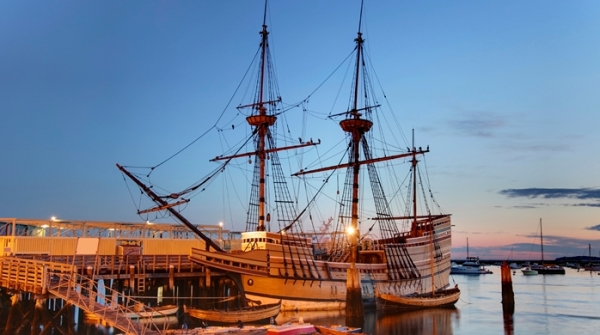 The Mayflower, in Plymouth, Mass