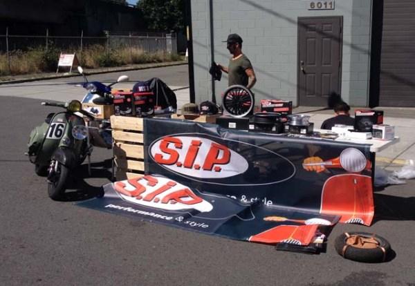 S.I.P. Scootershop display