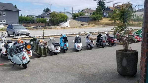 A group of scooters