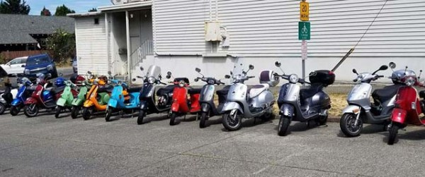 Scooter group, including modern ones