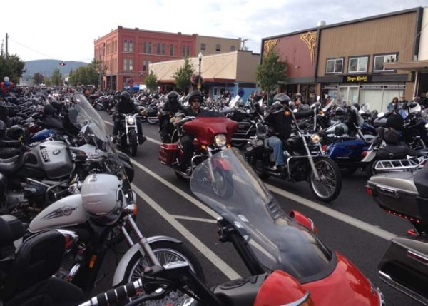 Bikes in downtown Anacortes
