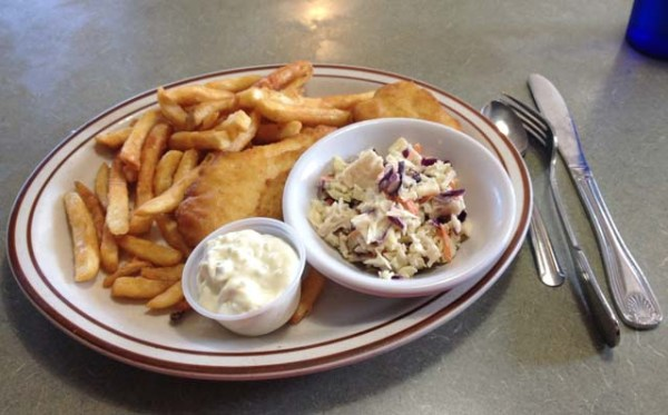 Lunch special - Halibut and chips