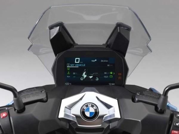 BMW C400X instrument cluster
